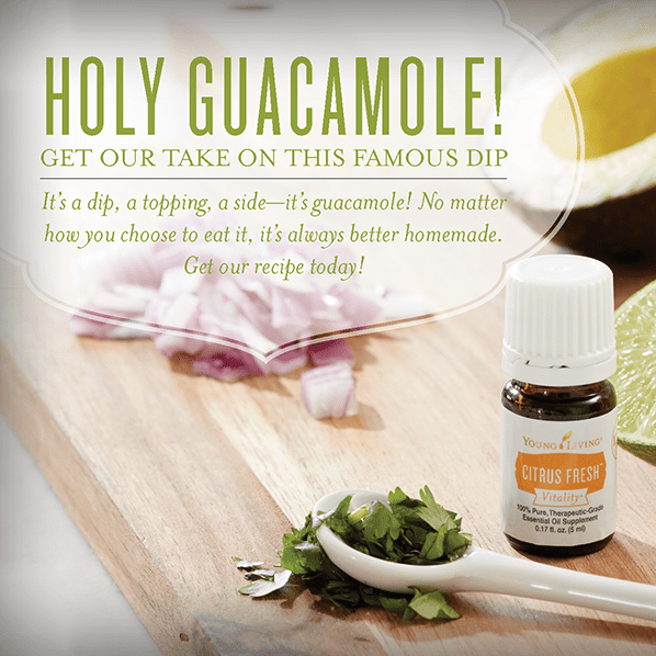 Guacamole Recipe with Young Living Vitality Essential Oils